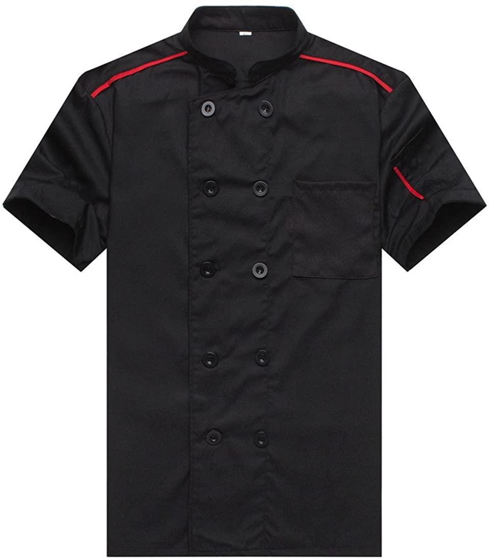 Chef Jackets Waiter Coat Short Sleeves Many Colors
