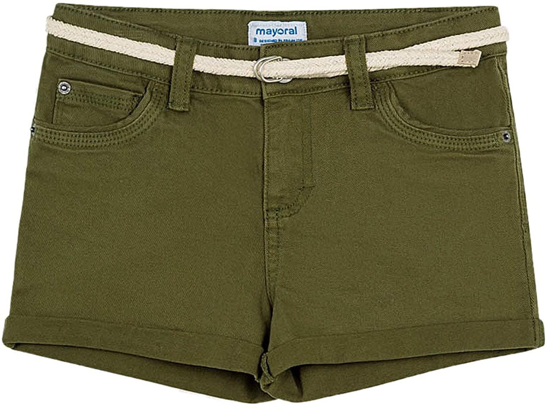 Mayoral - Basic Twill Shorts for Girls - 0275, Green