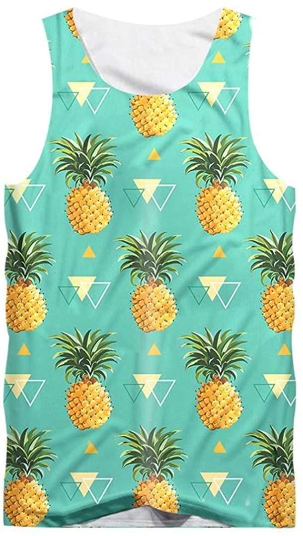 3D Tank Tops Print Pineapple Men Sleeveless Shirts Summer Cool Singlets Bodybuilding Fitness Clothes Gyms Undershirt