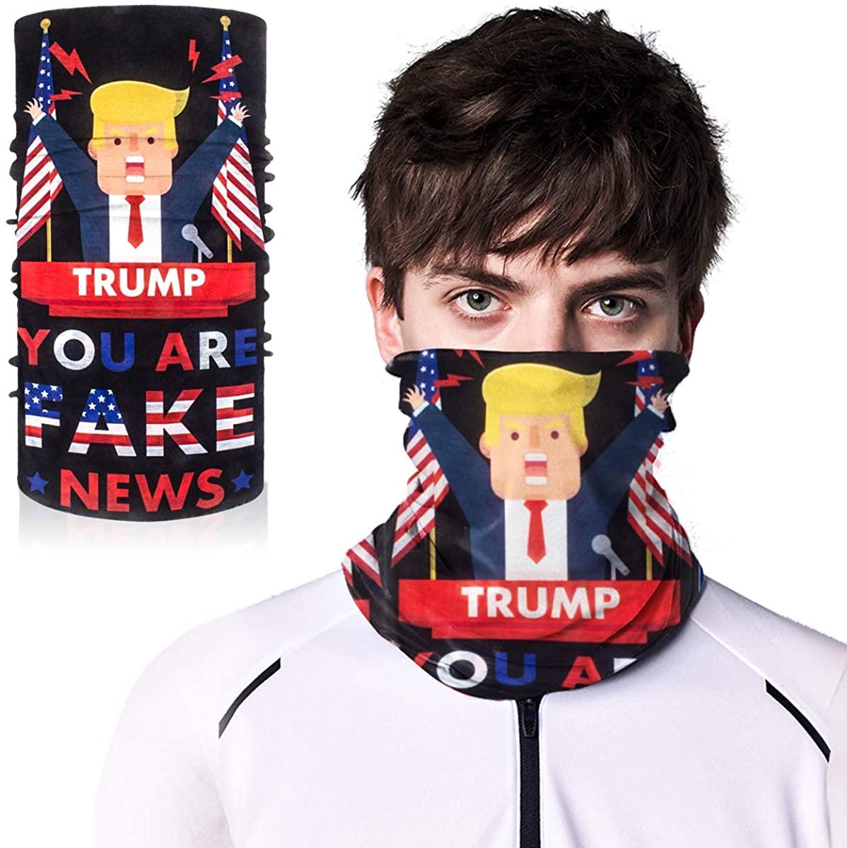 Trump Bandana Face Mask,Face Scarf for Men,Bandana Masks for Sun Dust Protection