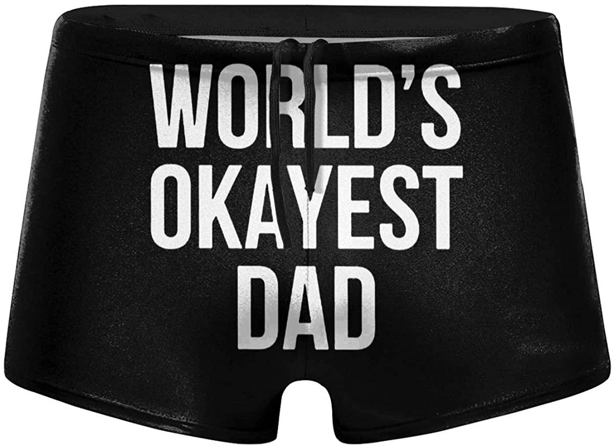 Okayest Dad Men's Swimwear Swimming Trunks Surfboard Boxer Shorts