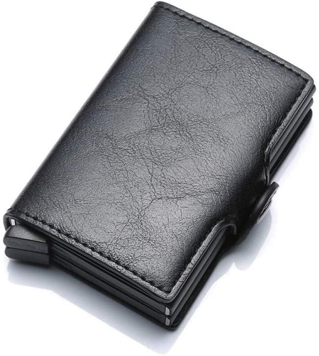 XCWQ Men Wallet Top Quality Wallets For Men Short Card Money Bag Mini Purse Male Aluminium Small Men Thin Vallet