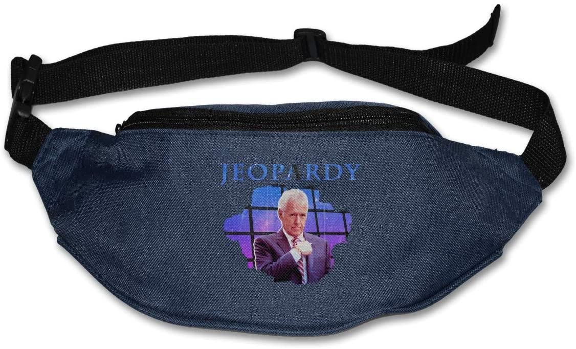 Hwxzviodfjg Alex Trebek Jeopardy Adjustable Running Belt Waist Pack Belt Fanny Pack Navy