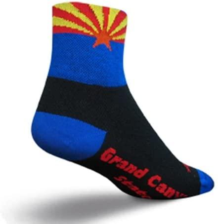 SockGuy Classic 3in Arizona Flag Cycling/Running Socks
