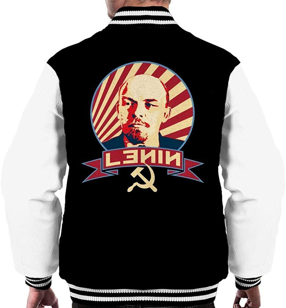 SHGNKSG Lenin Communist Propaganda Men's Varsity Jacket
