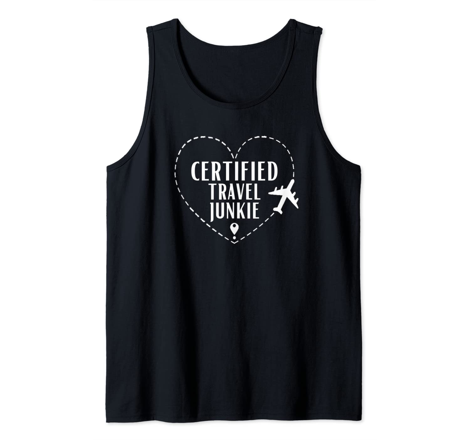 Certified Travel Junkie Airplane Mode Funny Gift Travel Tank Top