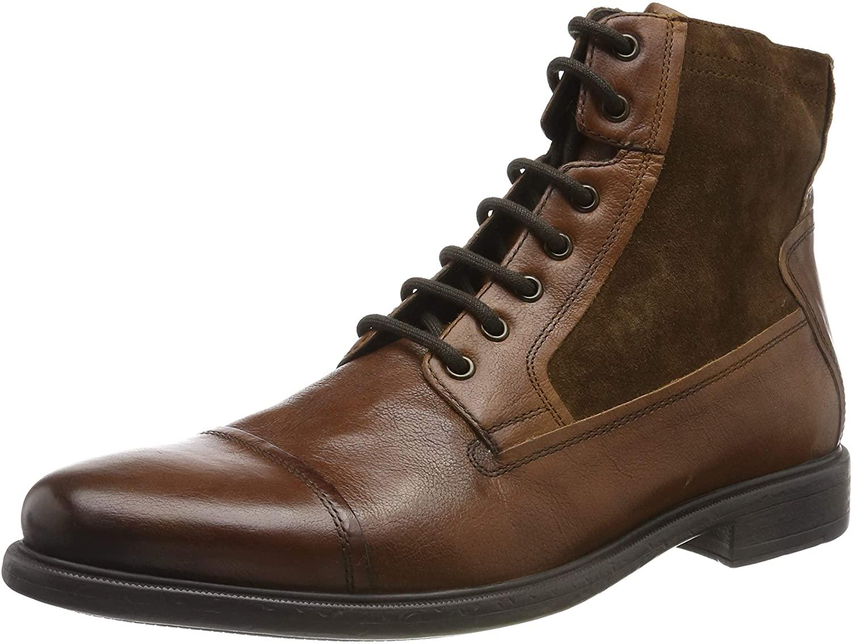 Geox Men's Ankle Classic Boots, Brown Cognac C6001, 6 UK