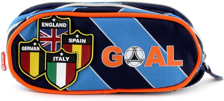 Goal Men's Coin Pouch, Light Blue, Orange, Black, 23 cm