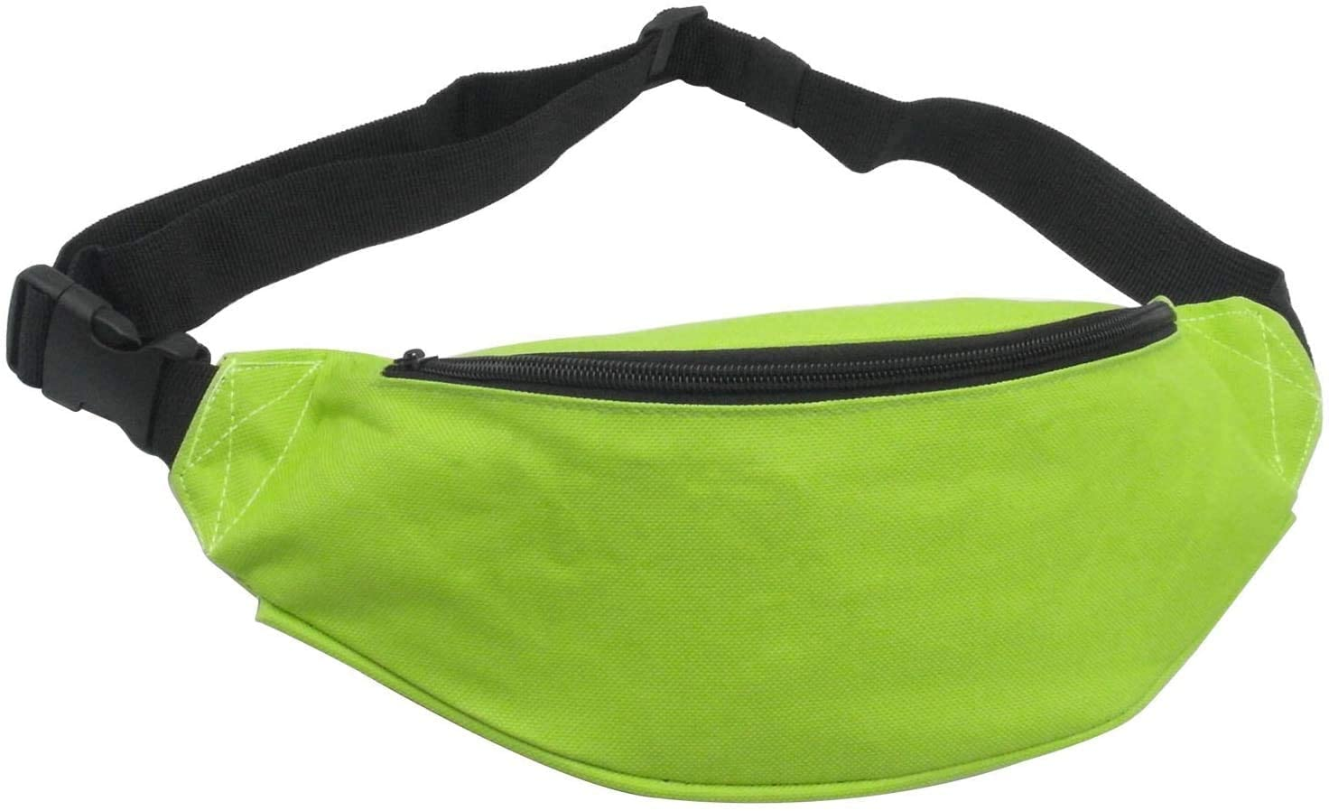Unisex Men Women Fashion Sporty Multi-Purpose 2-Zipper Waist Belt Bag Fanny Pack Adjustable Strap for Sport Hiking Traveling Passport Wallet Green
