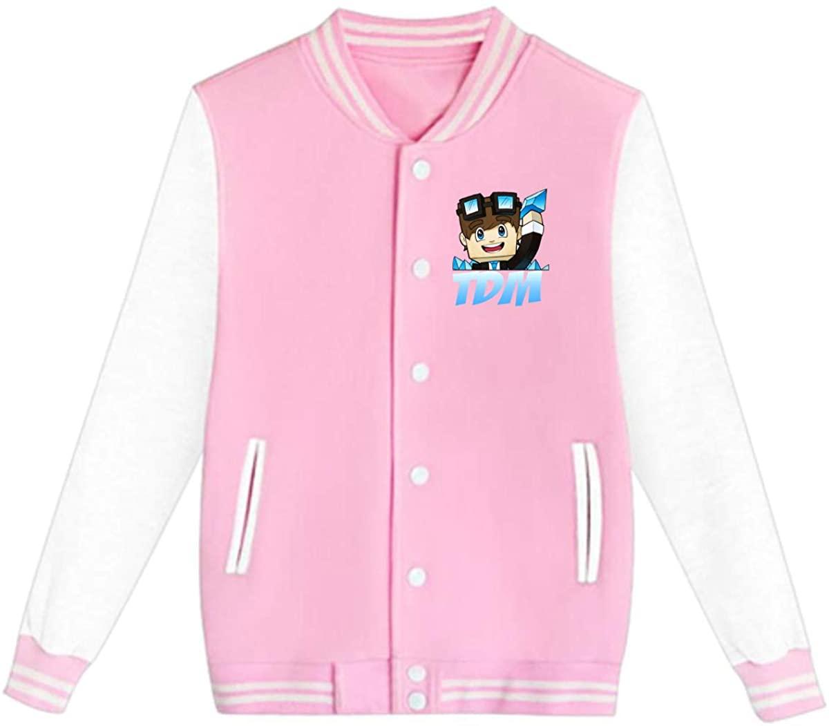AHUAHUA DanTDM Dan TDM Logo Unisex Youth Boys and Girls Sweatshirt Baseball Uniform Jacket Sport Coat