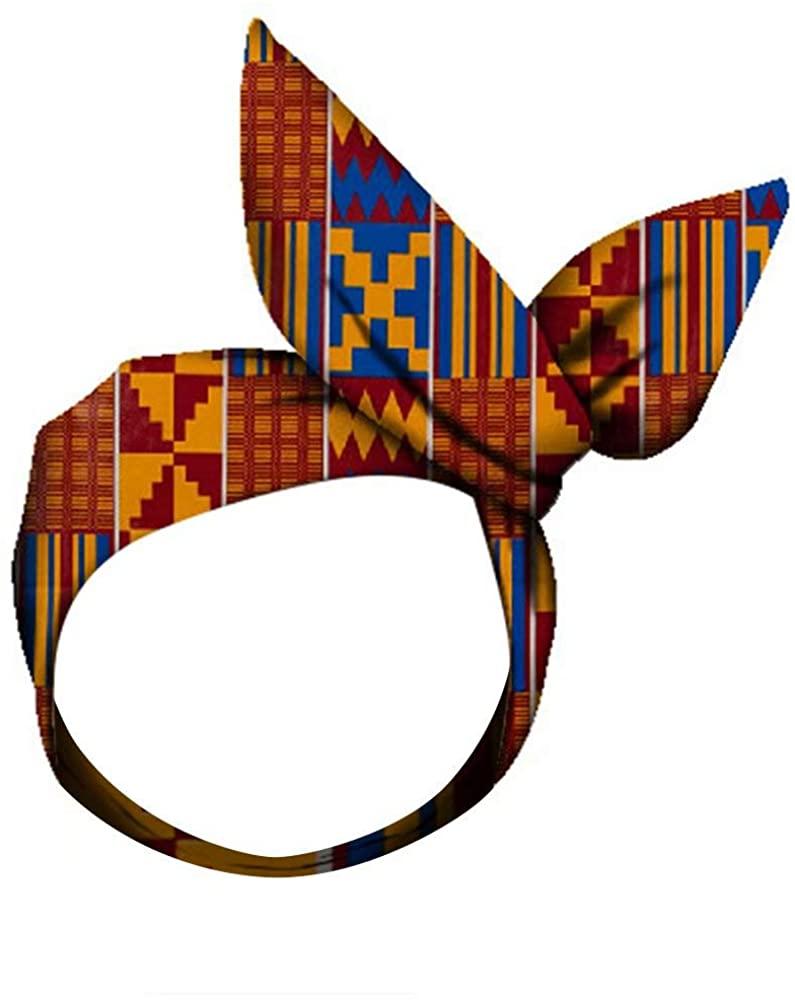 HITARGET Womens Fashion Headband African Ankara Cute Head Wrap Hair Headpiece Accessories