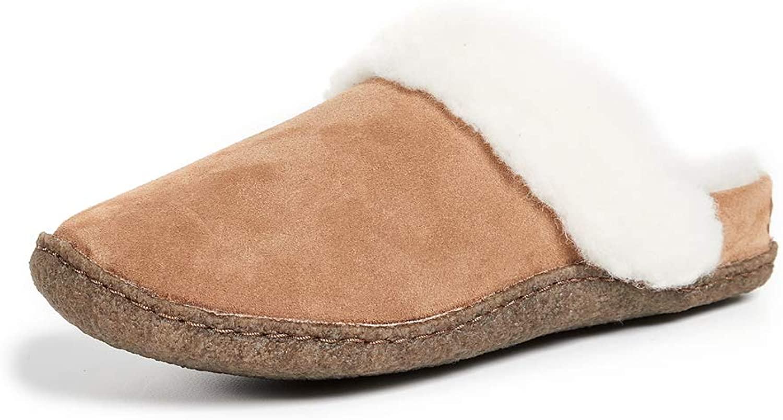 Sorel Women's Nakiska Slide II Slippers, Camel Brown/Natural, 9 Medium US