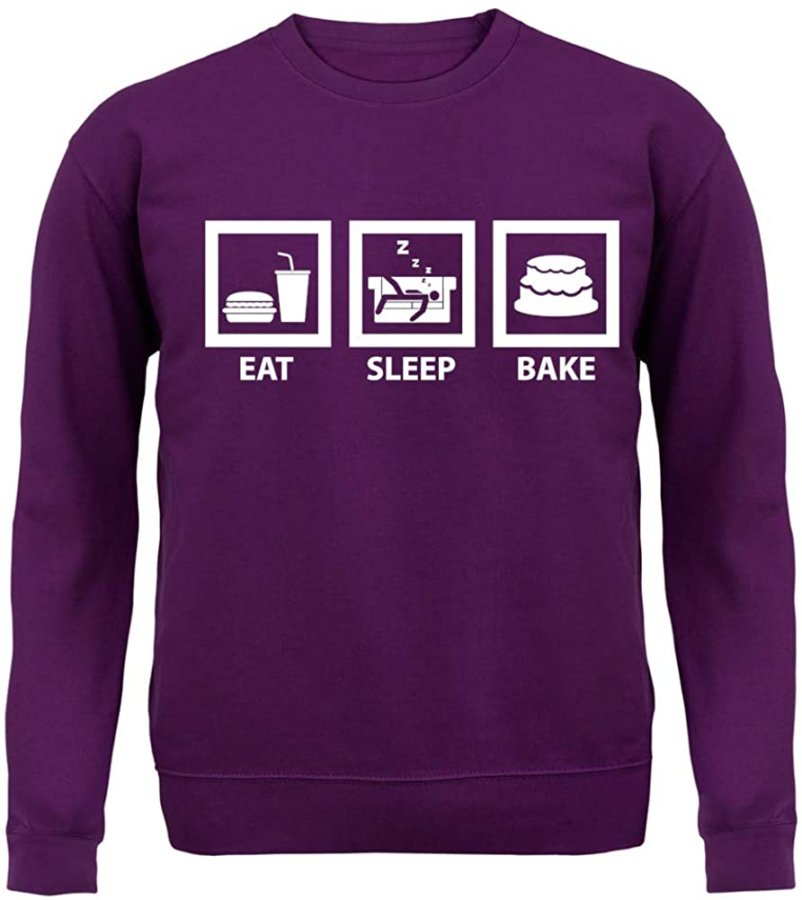 Dressdown Eat Sleep Bake - Unisex Crewneck Sweater/Jumper