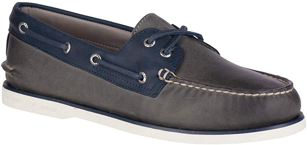 Sperry Gold A/O 2-Eye Roustabout Grey/Navy 13 M (D)