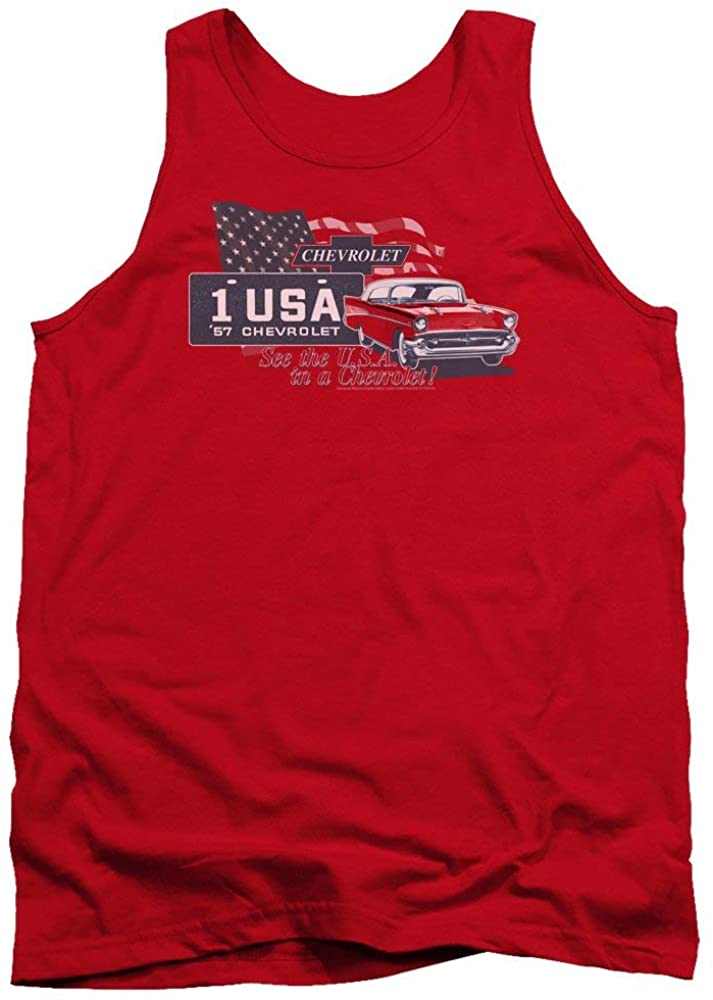 Trevco Chevrolet/See The USA-Adult Tank-RED-SM