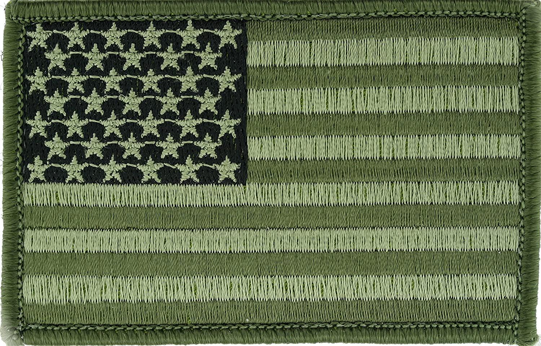 U.S. Flag (Green) 3.5x2.27 (Pack of 3)