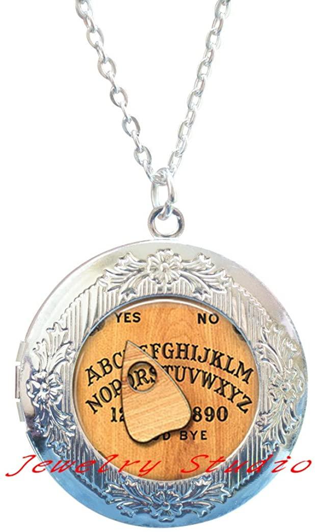 Charming fashion Locket Necklace,Ouija Board Locket Necklace, Ouija Board Jewelry, Ouija Board Jewellery,Halloween Locket Necklace, Halloween Jewelry,Spirit World Locket Pendant-HZ0023