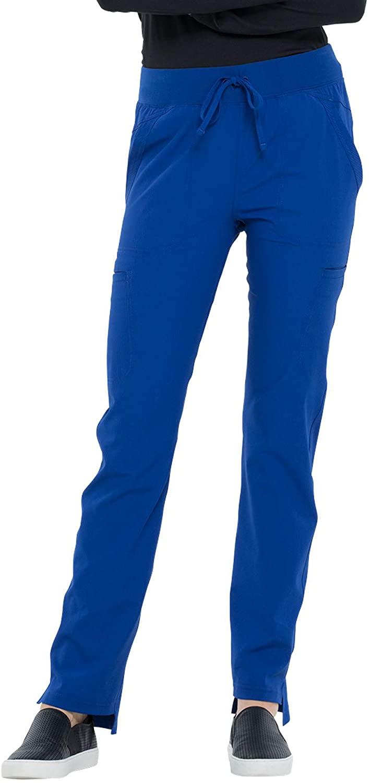 CHEROKEE Simply Polished Natural Rise Straight Leg Pant-GalaxyBlue-2XL