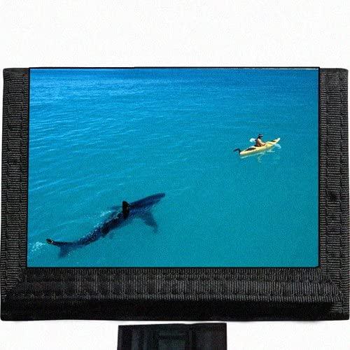 Shark Black TriFold Nylon Wallet Great Gift Idea