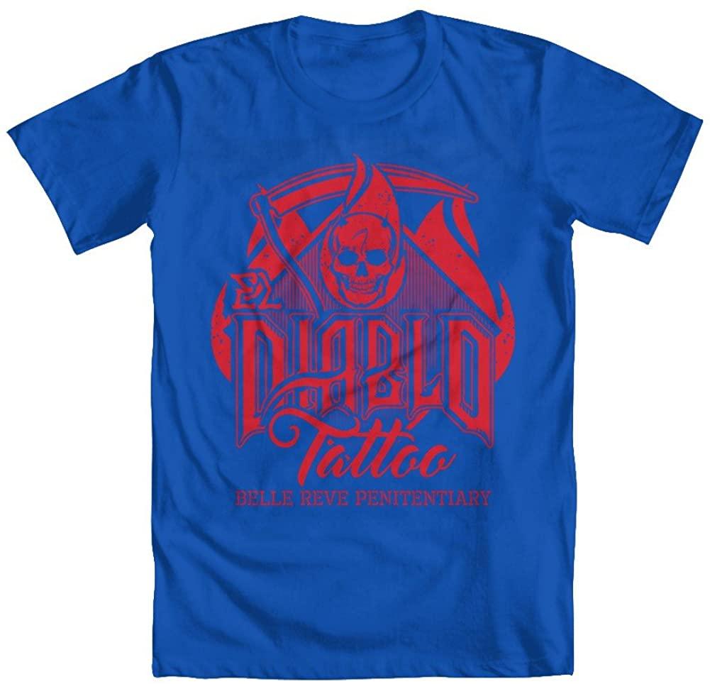 GEEK TEEZ El Diablo Tattoo Youth Girls' T-Shirt