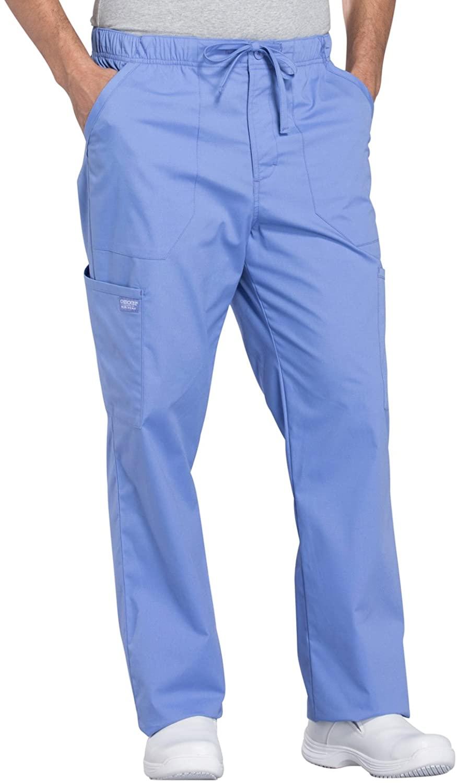 Cherokee WW Professionals WW190 Men's Tapered Leg Drawstring Cargo Pant Ciel Blue 2XL