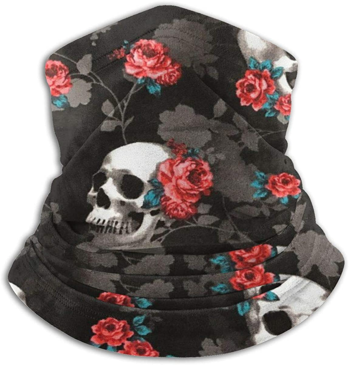Face Mask, Neck Gaiter, Black Sunflower Bandana, Balaclava Windproof Anti Dust Magic Scarf for Women Men