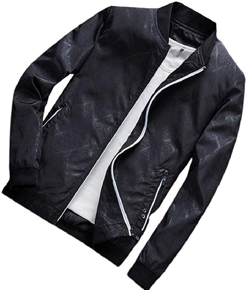 Jhsxydgy Men Baseball Fashion Bomber Outdoor Windbreaker Lightweight Jacket