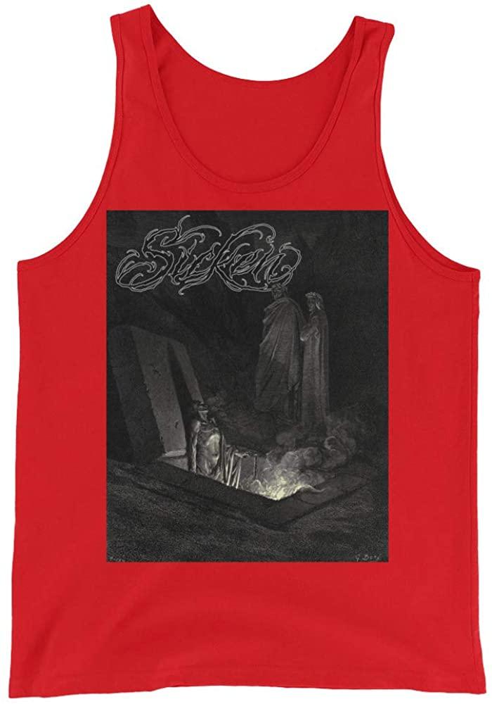 Sicken Clothing Risen Men's Tank by Gustave Dore Red