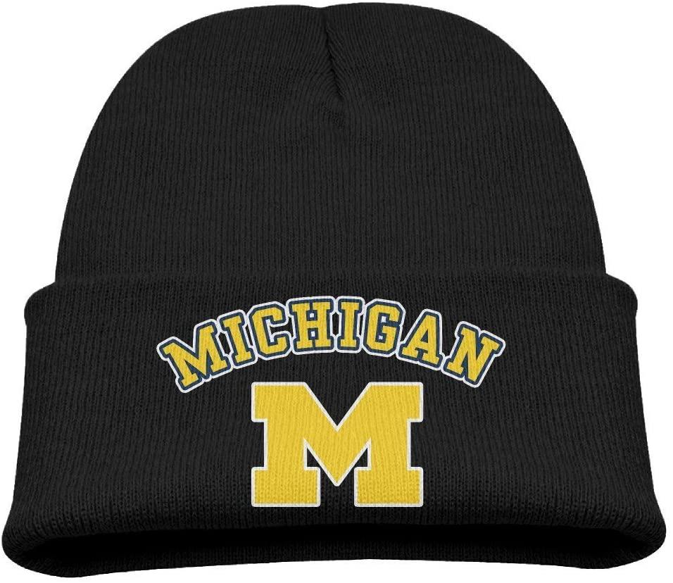 Harrietoop Winter Cap Michigan Wolverines M Logo Winter Warm Kids