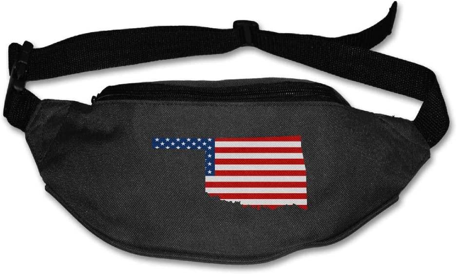 Eden Edies Oklahoma State Map Shape The USA Flag Unisex Waist Pack Bag Belt