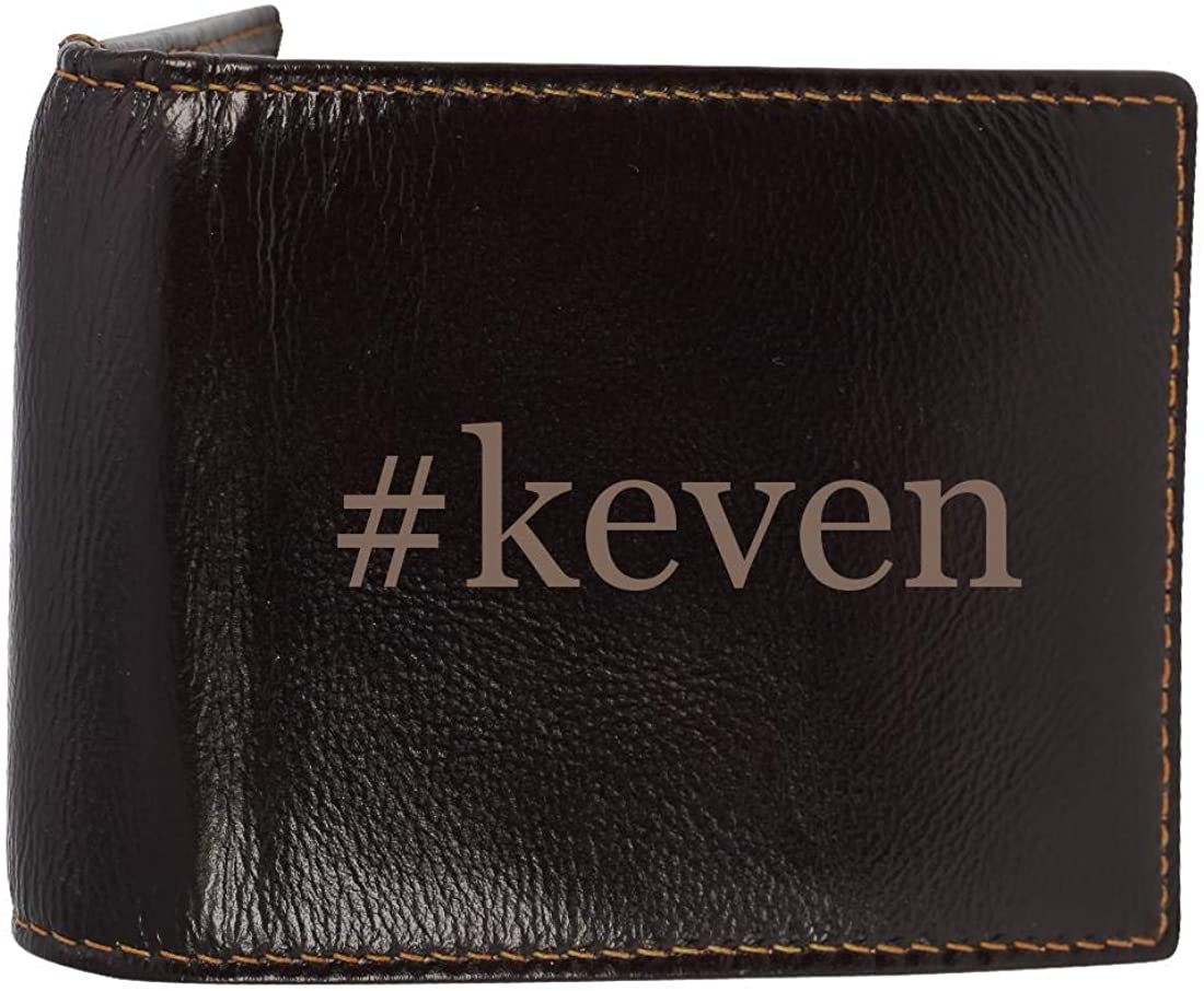 #keven - Genuine Engraved Hashtag Soft Cowhide Bifold Leather Wallet