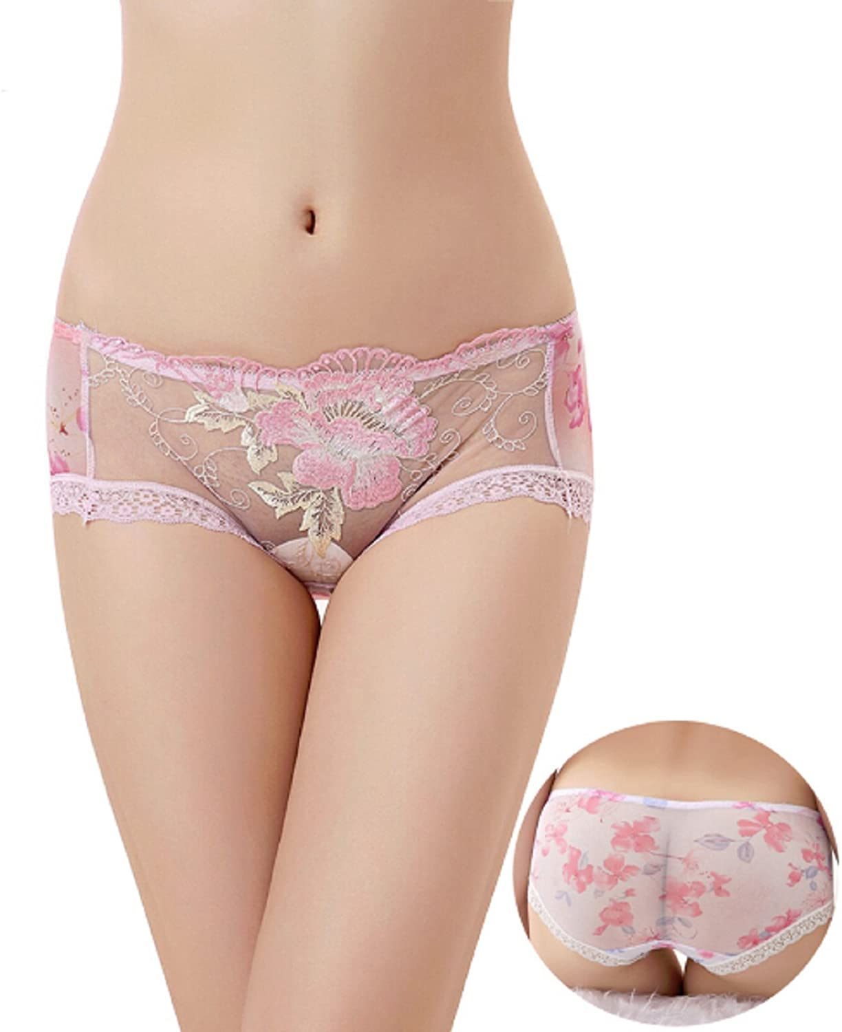 New! Sexy Hollow Out Women Panties Embroidered S-XL Lingerie Transparent Lace Printing Briefs Underwear for Girl