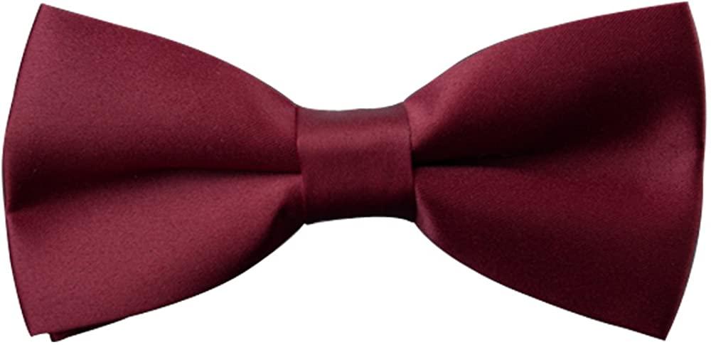 AINOW Mens Formal Satin Bowties Banded Mens Bow Ties Various Colors