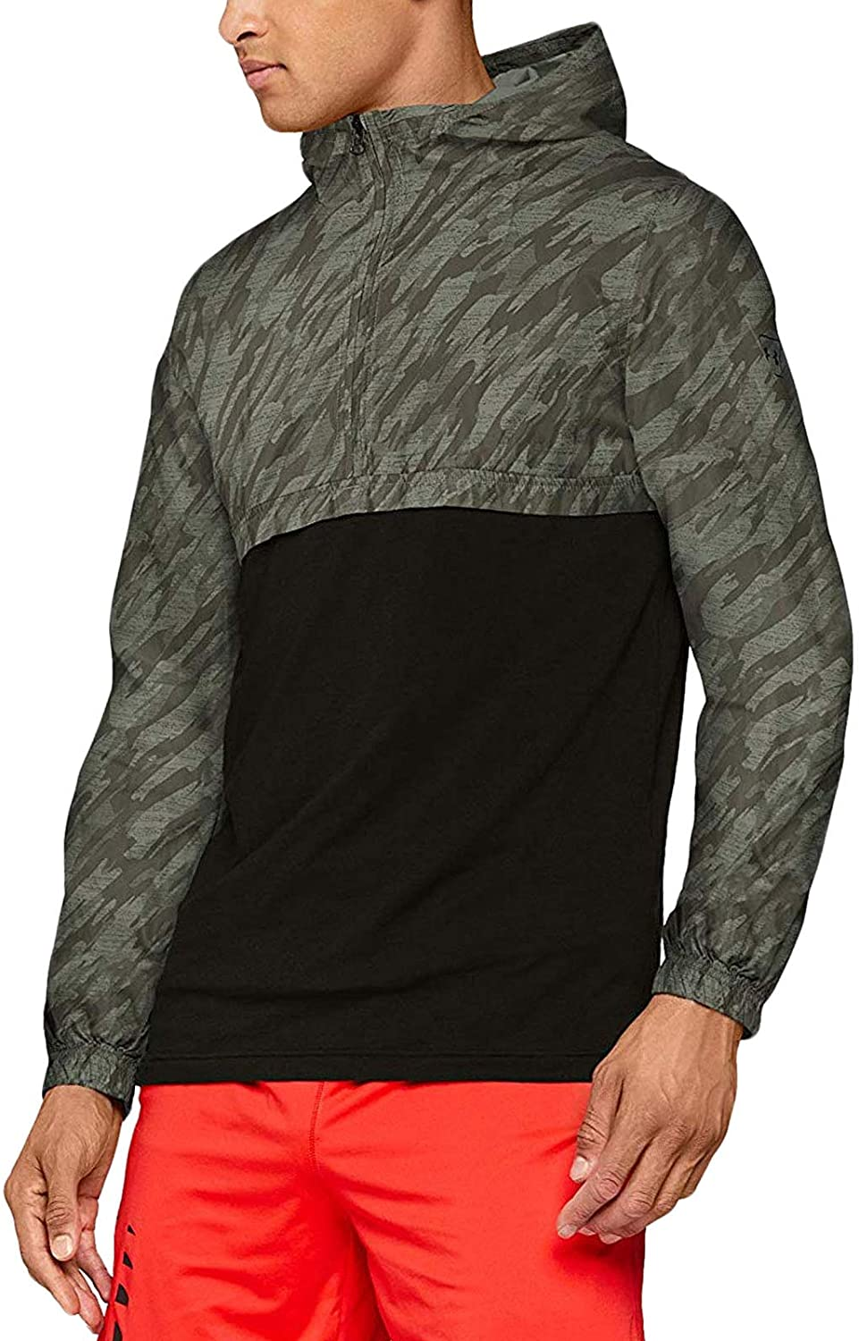 Under Armour Mens Sportstyle Long Sleeve Anorak - Moss Green - XS