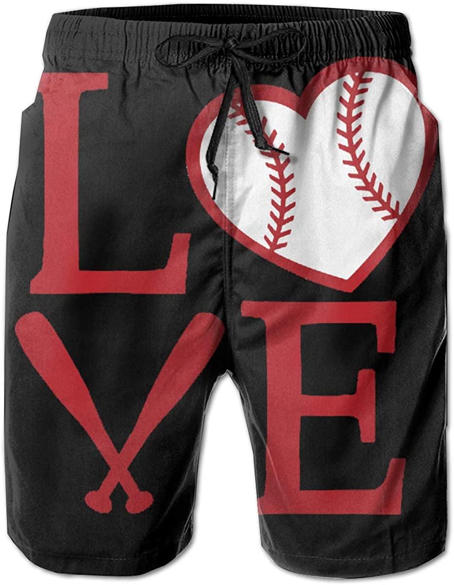 Love Baseball. Men Quick Dry Swim Swimwear Trunks Shorts Bathing Suit
