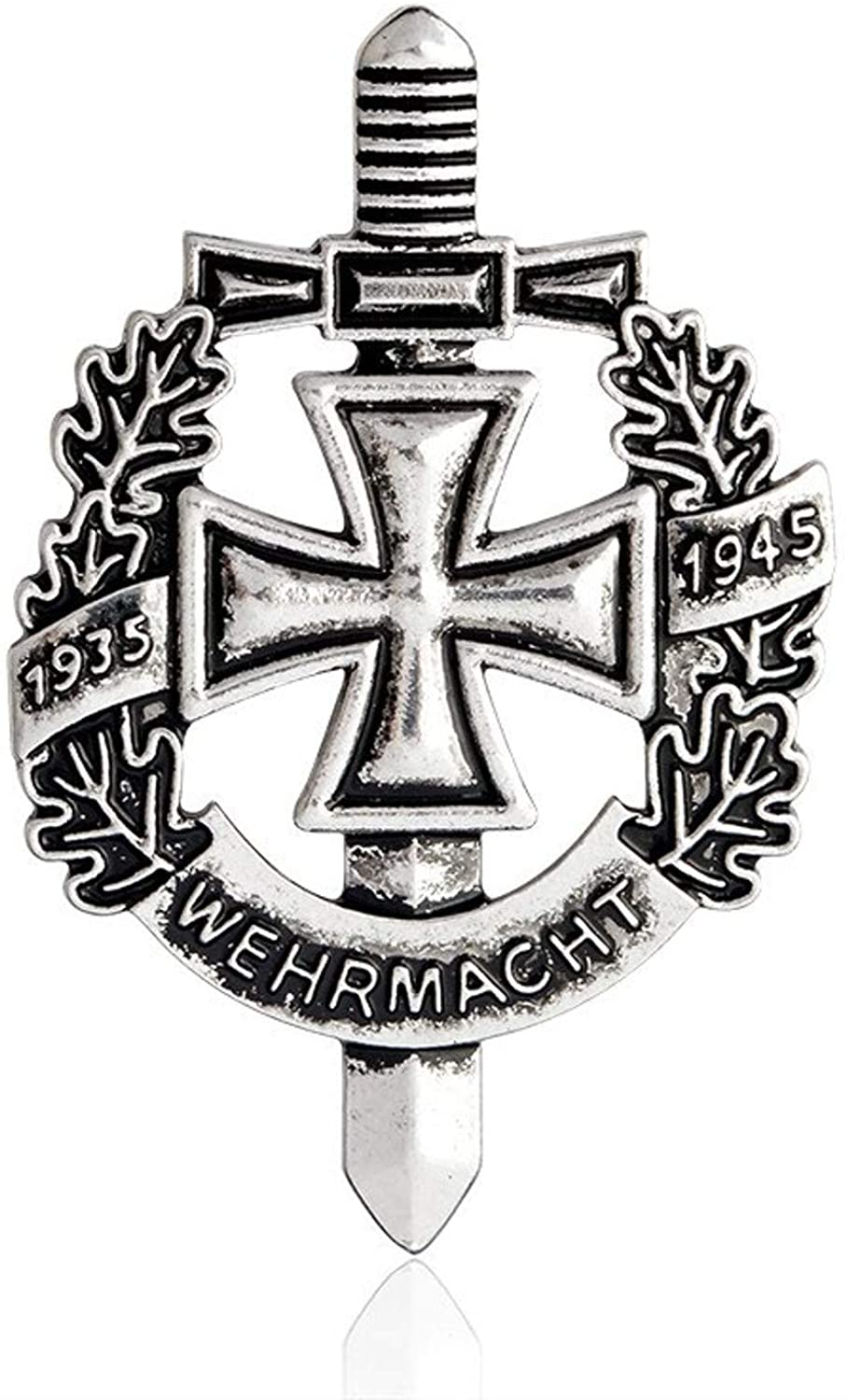 P Brooch - Ww2 German Wehrmacht Brooch 1935 1945 Antique Silver Bronze Pin Brooch Vintage