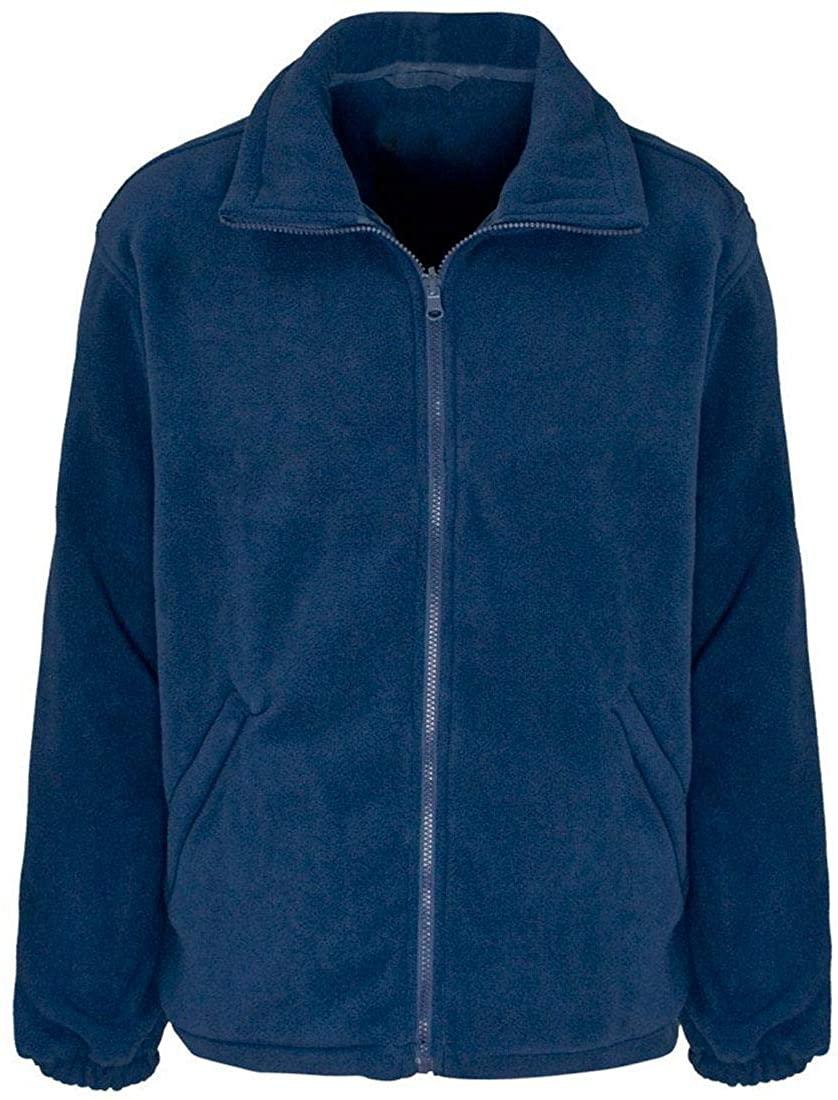 Rimi Hanger Mens Fleece Jacket Adult Full Zip Up Workwear Outdoor Pockets Warm Coat Top Small/4X Large