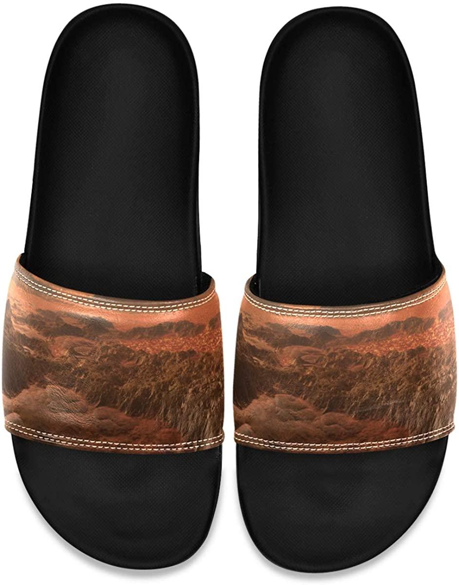 YQINING Men's Shower Slides Fantasy Alien Planet Slide Sandal, Slippers, Sandals for Men