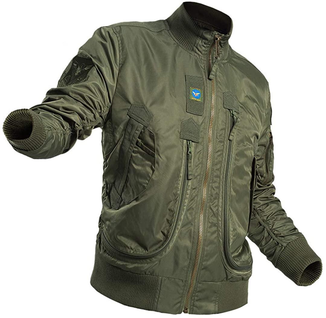 Men's Bomber Jacket Tactical Air Force Pilot Jacket Spring Autumn Windbreaker Coat