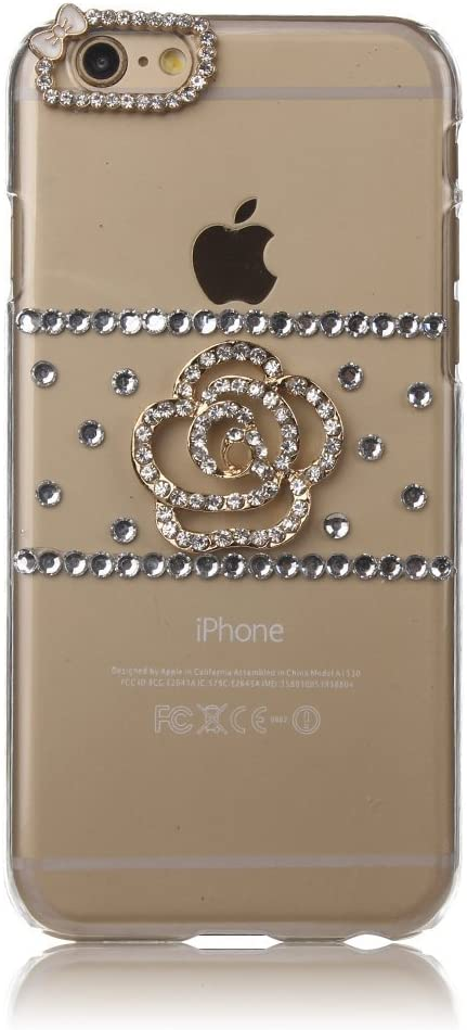 STENES Google Pixel 2 XL Case - 3D Handmade Luxury Series Crystal Pretty Flowers Sparkle Rhinestone Cover Bling Case For Google Pixel 2 XL Retro Bowknot Dust Plug - Crystal