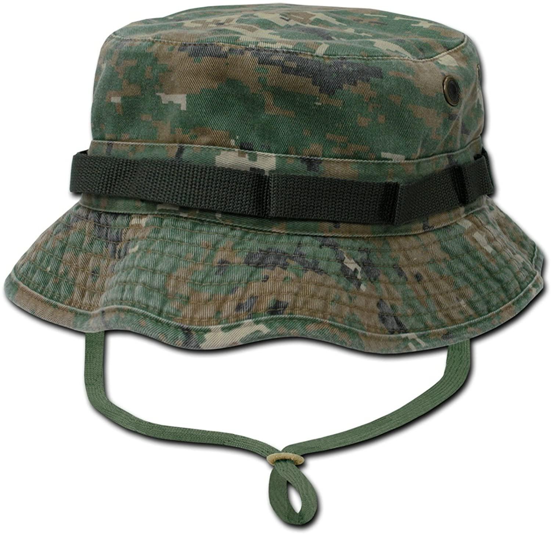Rapid Dominance Camo Military Boonie Hat- Digital Woodland, Medium
