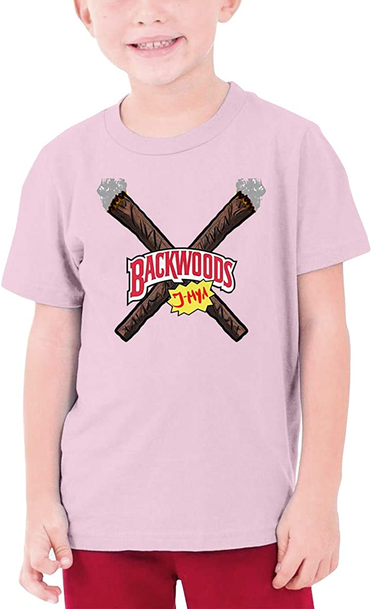 AP.Room Boys and Girls Teens Short Sleeve T-Shirt Backwoods Generous Eye-Catching Style Pink