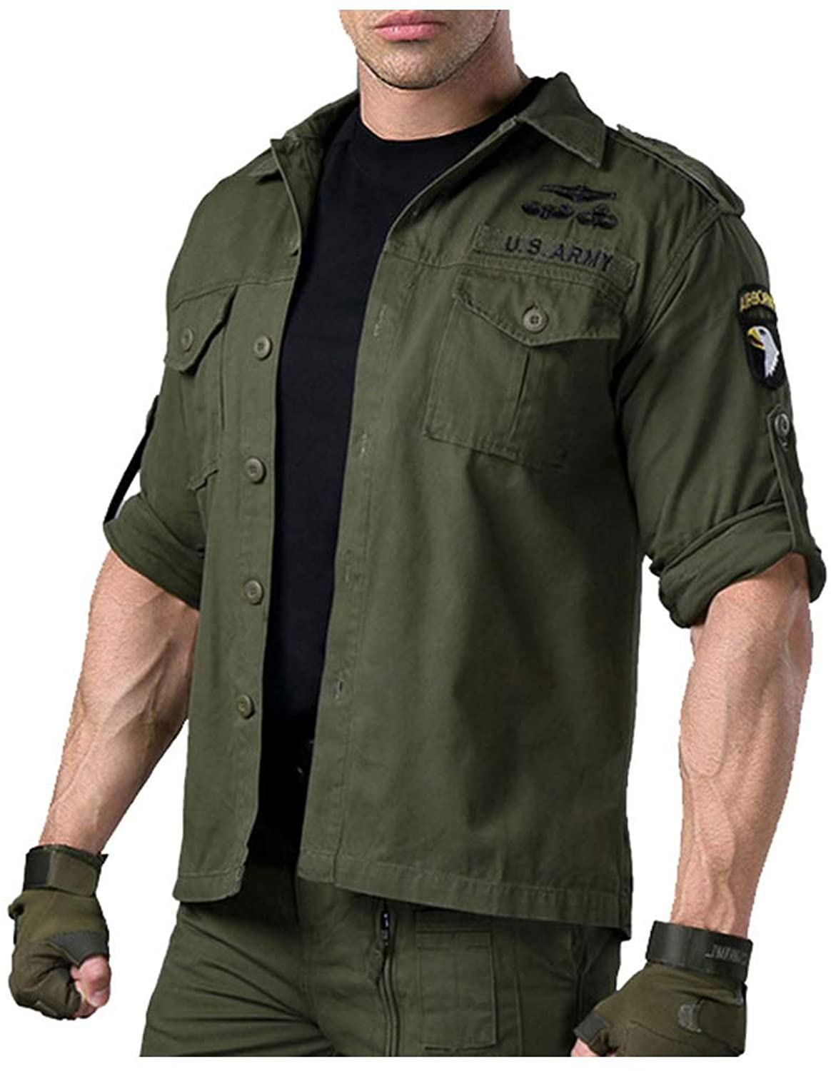 Men Camouflage SWAT Combat Long Sleeve Shirt Army Force Pockets Cotton Outwear Coats Military Tactical Shirts