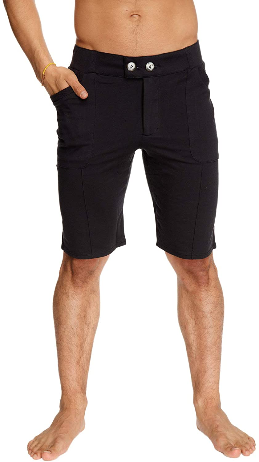 4-rth Mens Front Pleated Dress Short with Pockets