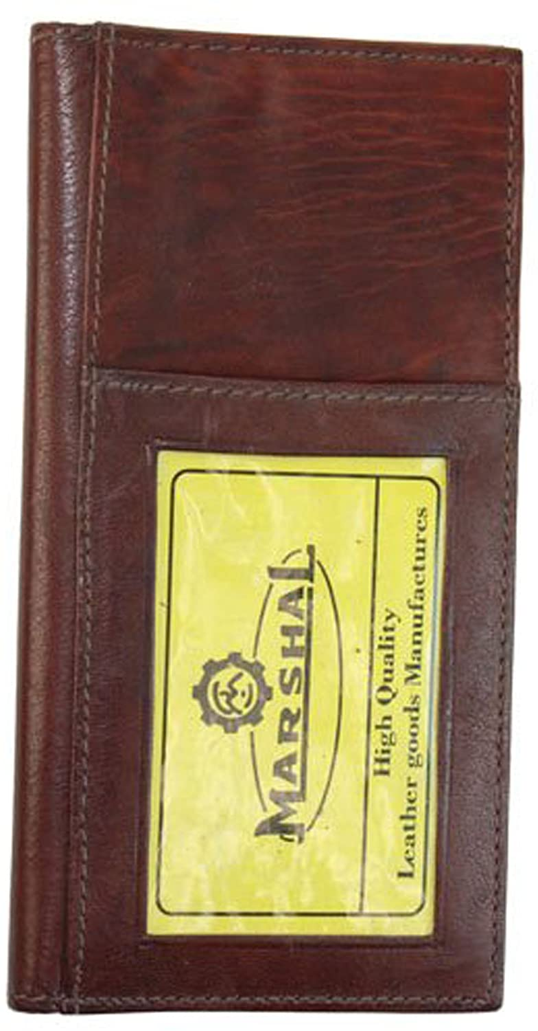 Genuine Leather Bifold Checkbook Covers Wallet #256CF