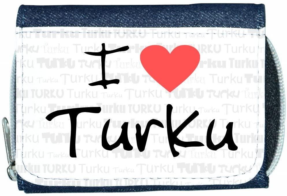 I Love Heart Turku Denim Wallet