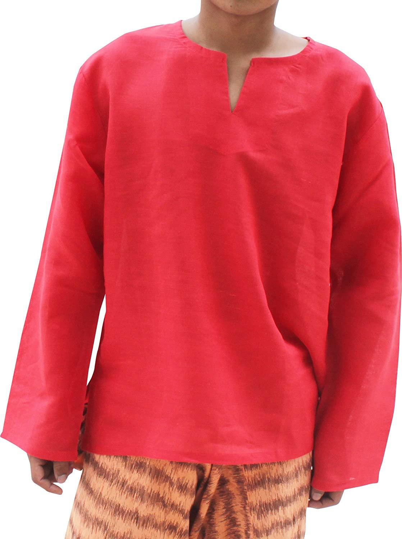 RaanPahMuang Japanese Ramy Linen Ultra Thin Gauze Summer Shirt Open Collar