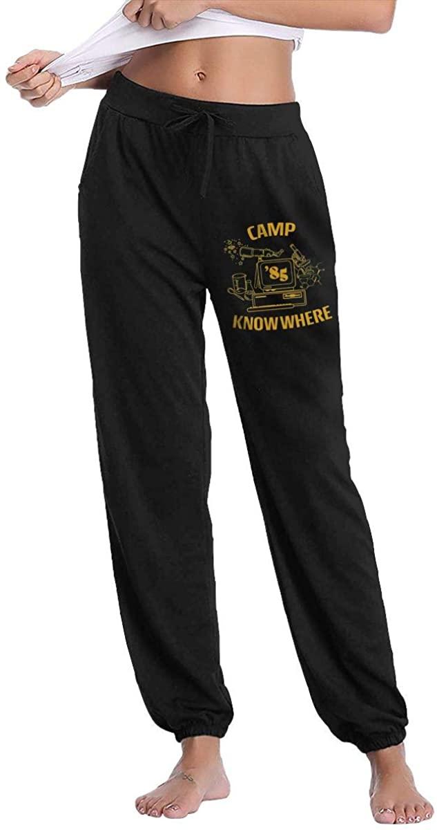 Sherrygeoffrey Camp Know Where Women's Sweatpants Pants Athletic Joggers Pants Fitness Black