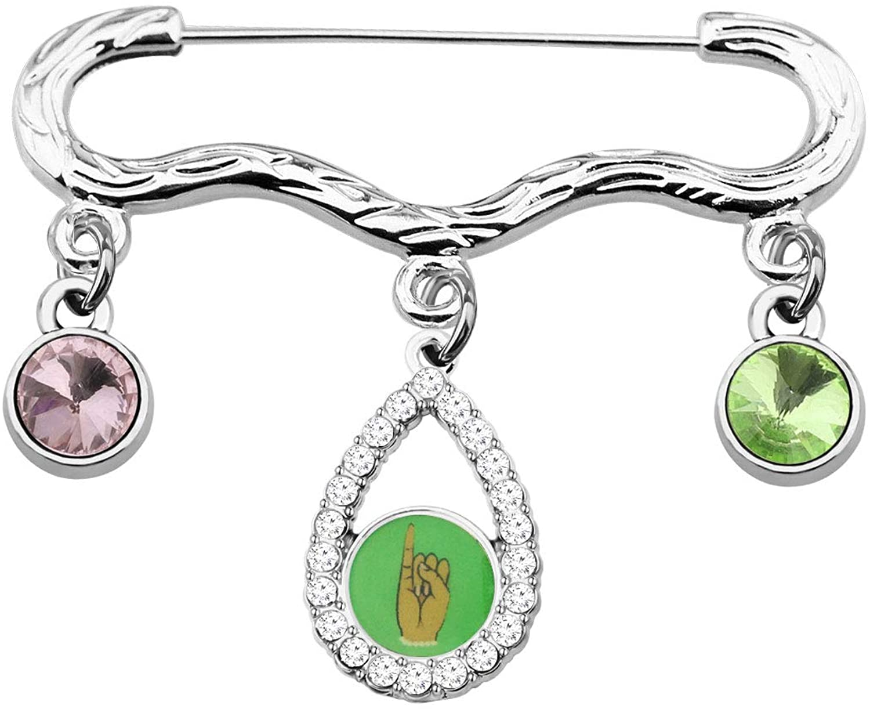 CENWA Alpha Kappa Alpha Pin AKA Sorority Graduation Gifts Pink and Green Pin Alpha Kappa Alpha Jewelry