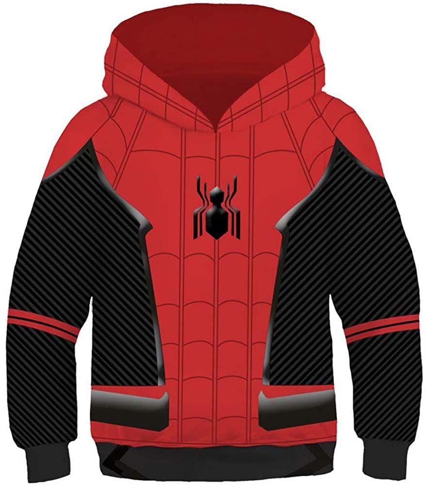 3D Kids Hoodie Jacket Superhero Halloween Cosplay Costume
